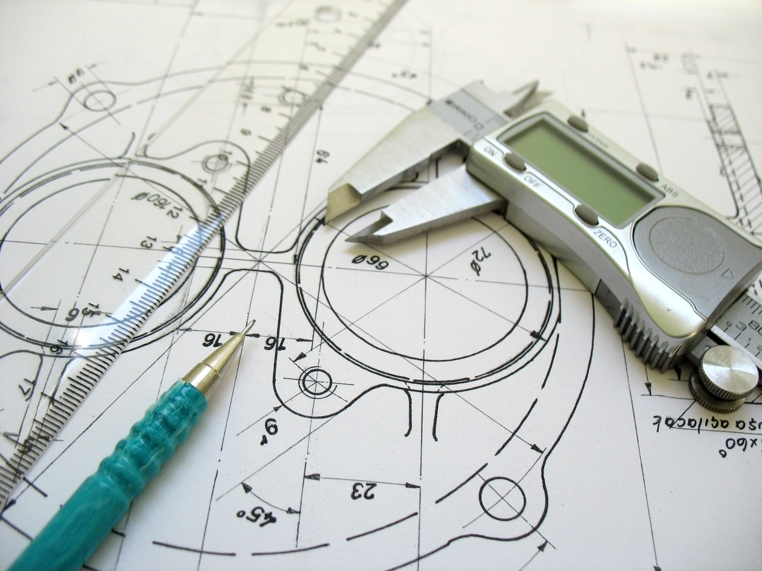 Engineering CAD drawing